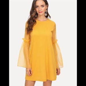 Dresses & Skirts - Yellow Bell Sleeve Dresss